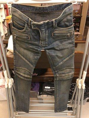 Balmain biker jeans 機車 騎士 牛仔褲 拉鍊 淺藍 刷舊 黑 白 灰 amiri mnml slp