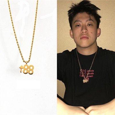Cover Taiwan 官方直營 進口K金 88上昇 Rich Chigga Brian 嘻哈 饒舌 金項鍊 海爾兄弟