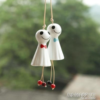 YEAHSHOP 風鈴掛飾陶瓷風鈴晴天 娃娃 小號掛飾 送朋友 禮物精細 特色工藝Y185