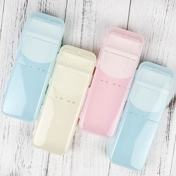 MY#爆款#馬卡龍色系果凍可折疊設計文具盒筆盒多功能鉛筆盒收納盒男女學生