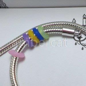 琥珀貓銀飾DIY【塑膠材料配件】矽膠定位珠, 定位扣, 固定珠, 固定扣~A1038~孔3.4mm~一組2個