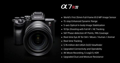 【中野數位】SONY A7R4 A7RIV 全片幅相機 單機身 平行輸入/店保一年