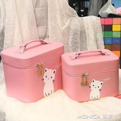 化妝包小號便攜專業大容量可愛少女心化妝箱簡約旅行INS風收納包