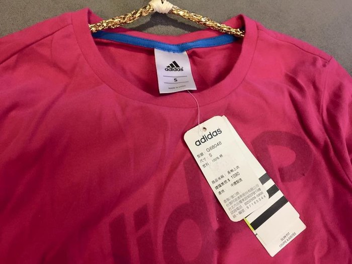 ☀APPLE SHOP☀愛迪達 adidas 純棉女桃紅運動上衣 長袖T恤