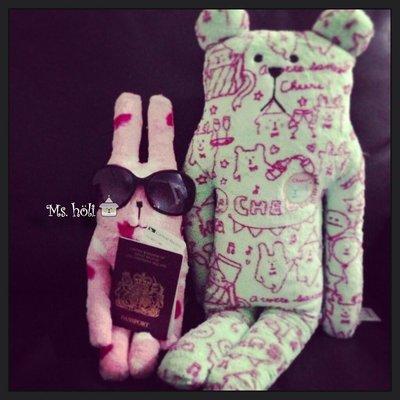 八折一隻現貨☄KANPAi Craft☃微笑聖誕節乾杯熊熊中抱枕CHEERS✡craftholic娃娃m號全家宇宙人夏日