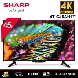 2019新品 SHARP 夏普 45吋4K智慧連網液晶顯示器4T-C45AH1T(量大可議