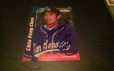 陳金鋒 親筆簽名棒球卡 中華職棒 美國職棒