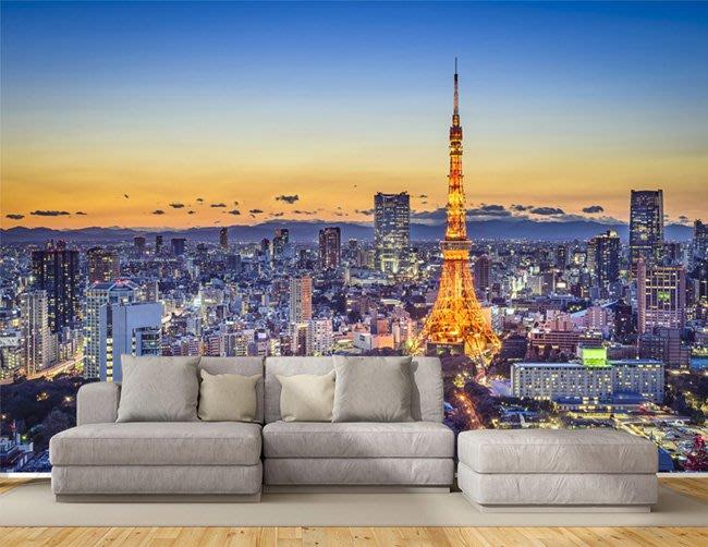 客製化壁貼 店面保障 編號F-165 日本鐵塔 壁紙 牆貼 牆紙 壁畫 星瑞 shing ruei