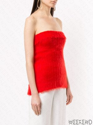 【WEEKEND】 GIANLUCA CAPANNOLO 平口 合身 上衣 紅色 19秋冬