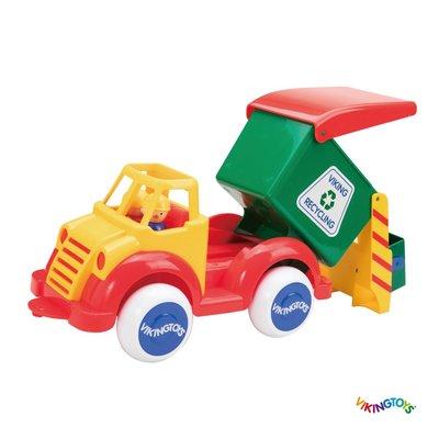 【晴晴百寶盒】瑞典進口 自然環衛車  VIKINGTOYS 男孩最愛 車車控 禮物益智遊戲玩具高品質W207