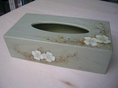 [ 丁銘畫廊 ] 面紙盒 - 精緻創作品 - 構圖 獨一無二 - 精緻 優雅 - 純手工畫 -  木器彩繪  原作品