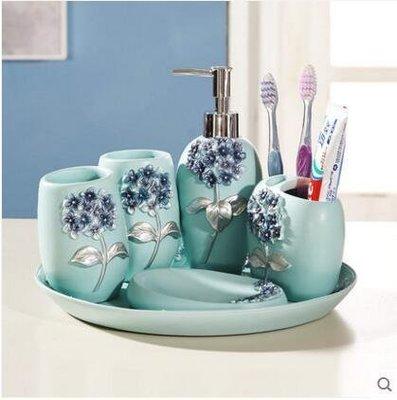 『格倫雅』歐式衛浴衛生間洗漱套件牙刷杯情侶刷牙杯漱口杯套裝^15556