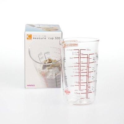 【小胖日本代購】現貨 日本 HARIO 耐熱玻璃 刻度 量杯 500ml (CMJ-500) ◎烘焙、料理適用◎日本製