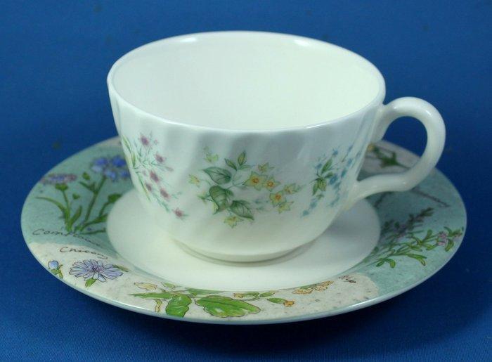 [美]英國百年名瓷MINTON骨瓷茶杯/咖啡杯二用杯盤組SPRING VALLEY+WILD FLOWER