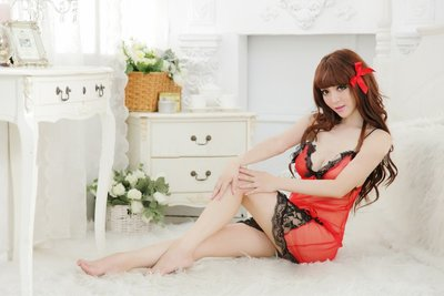 Sexy See-Through Lingeries pajamas Đồ lót ชุดชั้นใน sheer