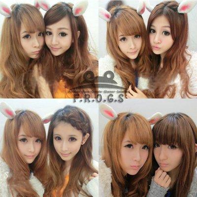 F.R.O.G.S F0039(現貨)日韓可愛毛茸茸兔耳朵派對道具髮圈髮箍頭飾