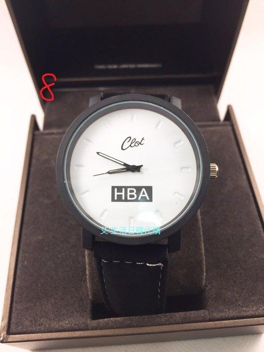 現貨  韓國新款HBA時尚潮流絨面錶帶男士手表