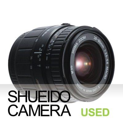 集英堂写真機【全國免運】實用品 SIGMA 28-80mm F3.5-5.6 MACRO 鏡頭 A接環 10816
