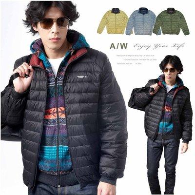 【大盤大】(D398) 有加大尺碼 黑色 羽絨衣 輕量 冬 羽絨外套 保暖外套 雙色夾克 男 女 立領 防風 輕薄 微涼