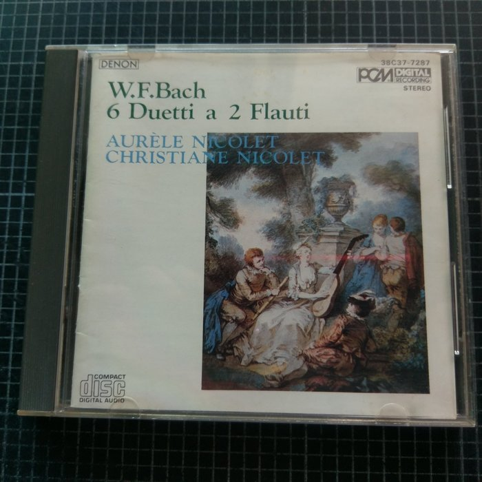 ※藏樂小舖※ (演奏CD) DENON~W.F.Bach/Nicolet 長笛 (日版)