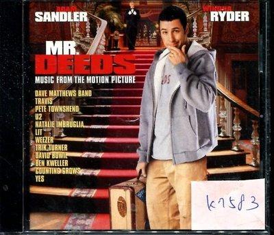 *真音樂* MR.DEEDS 二手 K7583 (封面底破)  (大降價.下標賣1)