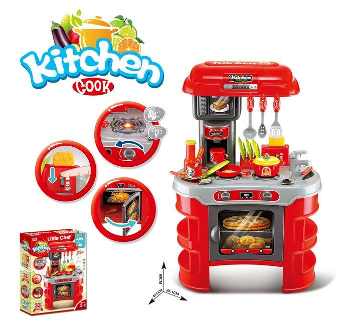 新款多功能廚房工作台~仿真廚具組~家家酒玩具~有燈光音效喔~◎童心玩具1館◎