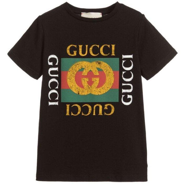 [限時折扣4-10y] Gucci 童裝款GG短T 其他尺寸款式可留言詢問