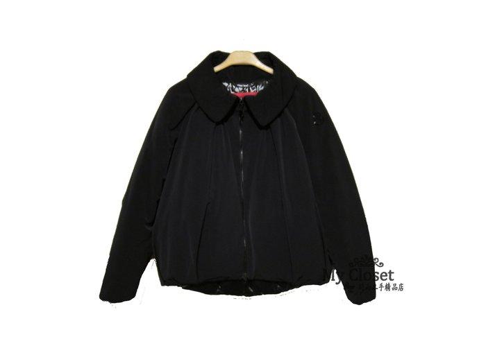 My Closet 二手名牌 MONCLER GAMME ROUGE系列 黑色花苞形雨絨外套