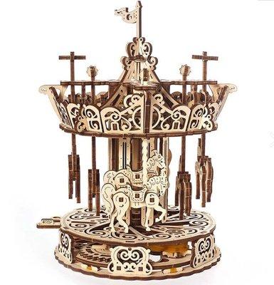 Ugears 霍爾斯的旋轉樂園 The Carousel 旋轉木馬 DIY木質模型 兒童樂園