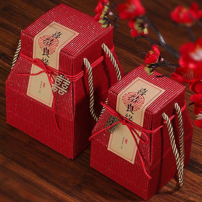 奇奇店-熱賣款 婚禮糖盒結婚喜糖盒子中式創意高檔婚慶紙盒糖果盒可放煙回禮品盒(量大諮詢客服優惠喔)