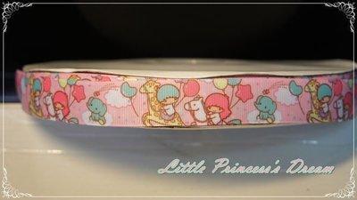 Kiki Lala 雙子星 22mm 精緻粉色羅紋帶 (緞帶/髮飾材料/DIY手作) 現貨實品拍攝