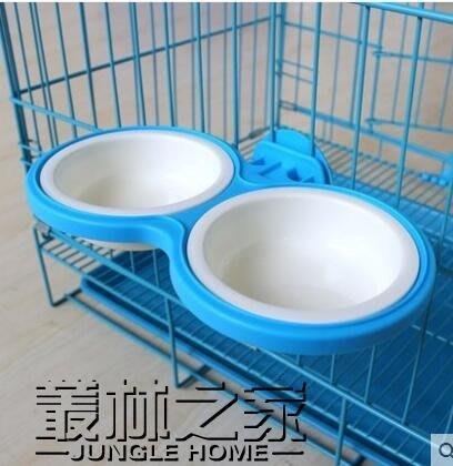 狗籠掛碗寵物掛碗狗狗不銹鋼雙碗貓掛碗貓籠懸掛食盆水盆狗碗貓碗