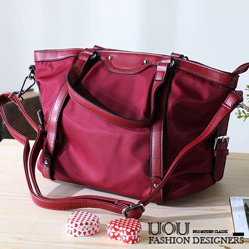 *UOU精品*韓國時尚款 防水布質感梯形單肩包側背包斜背包手提包 包包‧3色【kr123】