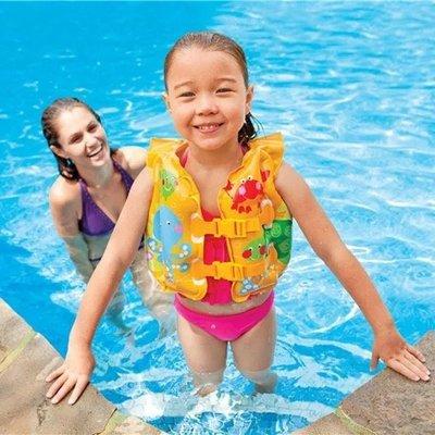 INTEX 嬰幼兒趣味魚背心 兒童救生衣 寶寶游泳背心 充氣泳衣
