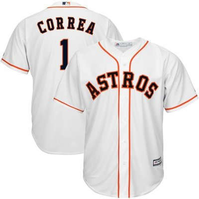 Carlos Correa Majestic White Home Cool Base Player Jersey