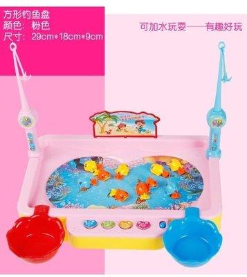 日和生活館 兒童磁性電動旋轉釣魚機寶寶益智小貓釣魚套裝小孩1-3-6周歲玩具S686