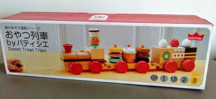 兒童嬰幼兒日本小火車木製玩具🎉甜品野餐車🎉拖拉小火車玩具 兒童辦家家酒玩具 兒童益智玩具 生日禮物🎀現貨桃園🎀