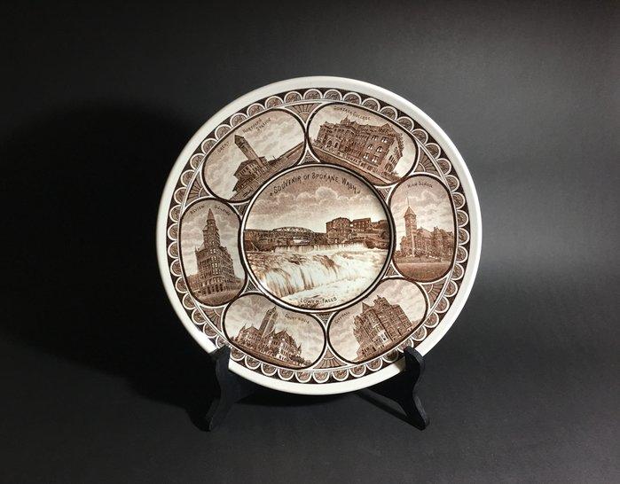 英國老件 ROYAL. ALMA  AMERICAN SCENES. 限量版 瓷盤 裝飾盤 倫敦老件