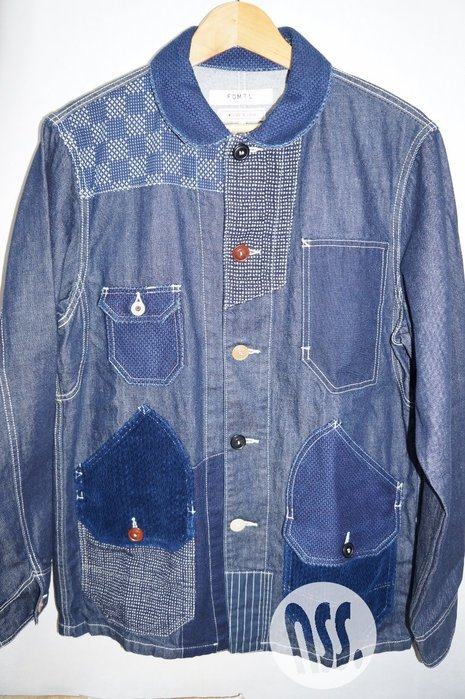 「NSS』FDMTL 19 PATCHWORK COVERALL RINSE INDIGO M L