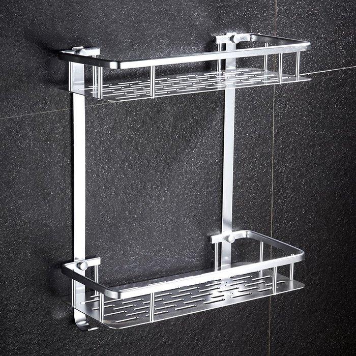 收納世家 浴室收納衛生間置物架浴室壁掛廁所三角收納洗手間儲物角架2層免釘免打孔