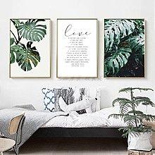 北歐現代風格小清新植物綠植英文字母裝飾畫畫芯高清微噴打印畫心(不含框)