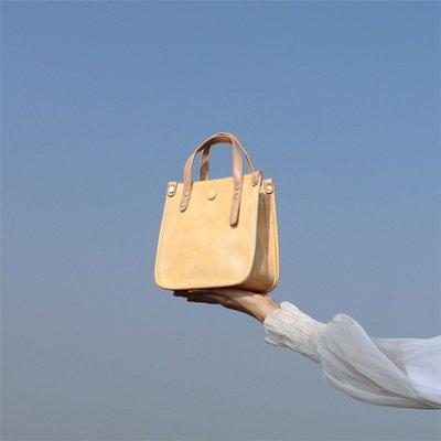 水桶包寬帶2020新款包包大容量女黃色小托特包潮百搭斜挎包仙女@di67602