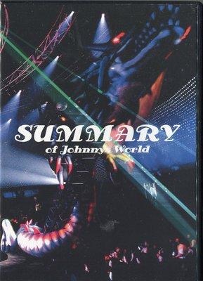 【黑妹音樂盒】KAT-TUN & NEWS - SUMMARY OF JOHNNYS WORLD VCD----二手CD