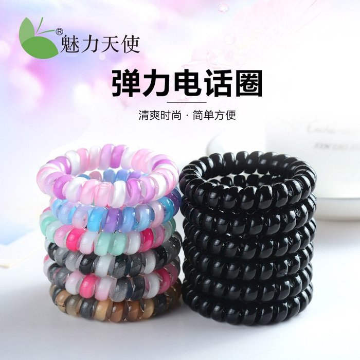 韓國Baby~頭繩女橡皮筋馬尾髪圈電話圈韓版簡約個性髪繩大號扎頭髪飾品