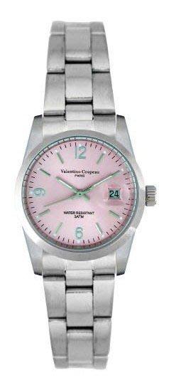 (六四三精品)Valentino coupeau(真品)(全不銹鋼)精準女錶(附保証卡)12168SL-42