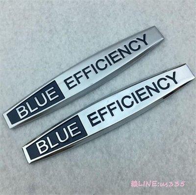 ⑦色花**Mercedes Benz賓士奔馳BLUE EFFICIENCY藍色效能車標 側貼 葉子板側標 改裝車貼