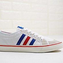 D-BOX ADIDAS Nizza LO 白色 藍紅 麂皮 休閑帆布鞋 學生板鞋 男女款