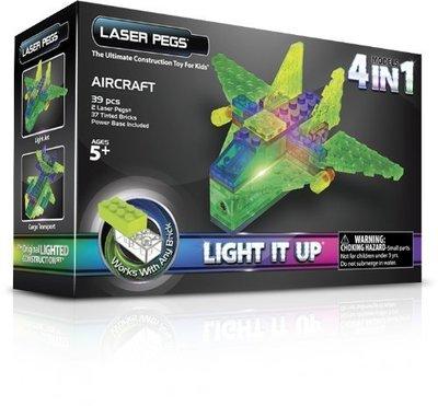 【Sunny Buy寶貝館】◎預購◎美國 Laser Pegs 4-in-1 飛機套組 LED 樂高積木