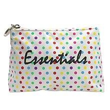 波點化妝袋. 細袋*白色*(Polka Dots Make-up Bag. Mini Bag*White*)