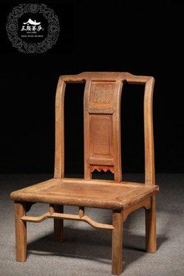 【珍藏級】【珍品精拍】【雅藏----清/代 蘇作 櫸木】 小靠椅一把,腿改矮。